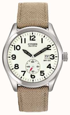 Citizen Eco-drive 男士帆布表带腕表 BV1080-18A