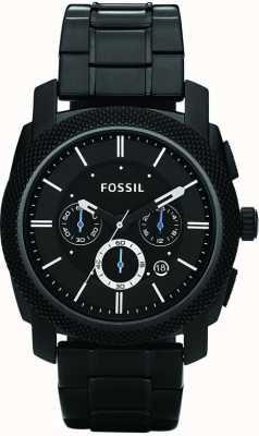 Fossil 男士黑色计时手镯表 FS4552