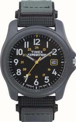 Timex 男士远征黑脸尼龙手表手表 T42571