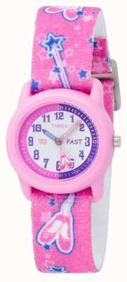 Timex 孩子们粉红色的芭蕾舞演员模拟表带手表 T7B151