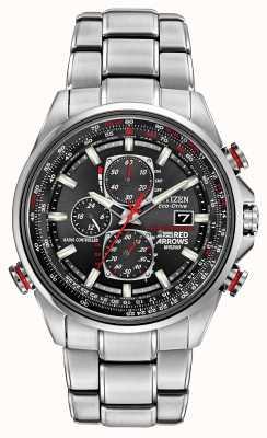 Citizen 绅士的红色箭头在d9计时生态驱动手表上 AT8060-50E