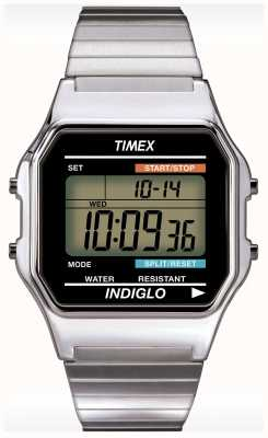 Timex Gent的Indiglo闹钟计时腕表 T78587
