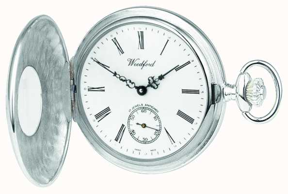 Woodford 银色1/2猎人pocketwatch 1067