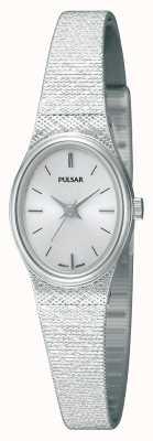 Pulsar 女士不锈钢网状表带椭圆形表盘 PK3031X1