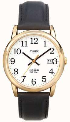 Timex 男士白色黑色轻松阅读器手表 T2H291