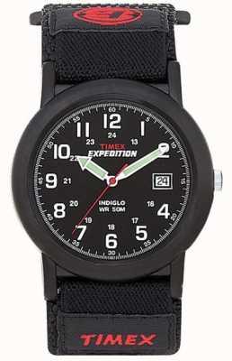Timex 男士黑色野营远征手表 T40011