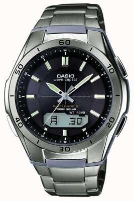 Casio 男士Wave ceptor黑色表盘钛金属手表 WVA-M640TD-1AER