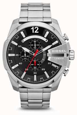 Diesel 男士百万首席不锈钢黑色表盘手表 DZ4308