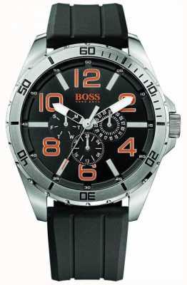 Hugo Boss Orange 男士不锈钢黑色橡胶表带多表盘 1512945