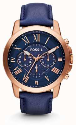 Fossil 男士授予计时海军手表 FS4835