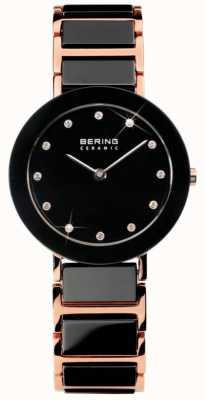 Bering 现代双色调陶瓷水晶手表 11429-746