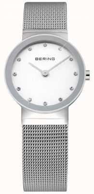 Bering 时间女士观看|不锈钢银色网带| 10126-000