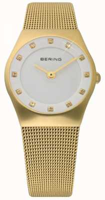 Bering 时间女士金色网眼手表 11927-334
