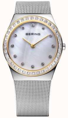 Bering 石材镶嵌超薄手表 12430-010