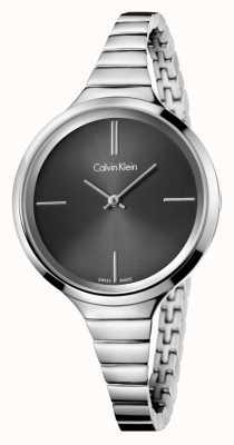 Calvin Klein 女士们热闹的黑色银色手表 K4U23121