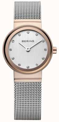 Bering 女士经典玫瑰金色调手表 10126-066