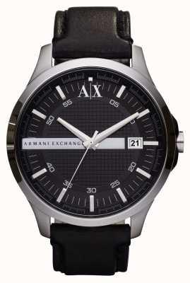 Armani Exchange 男士日期真皮表带手表 AX2101