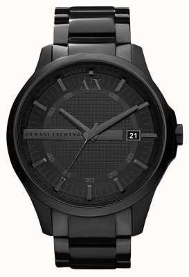 Armani Exchange 男士智能黑色pvd镀不锈钢 AX2104