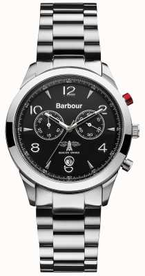 Barbour 男士不锈钢电池供电石英模拟 BB017SL