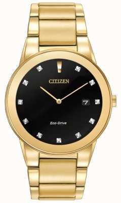 Citizen |男士公理生态驱动器|钻石镶黑色表盘| AU1062-56G