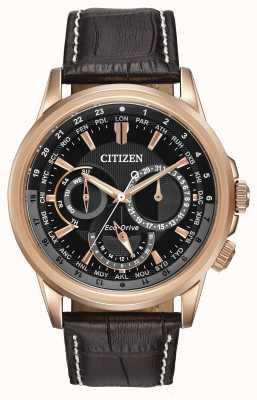 Citizen 男士calendrier玫瑰色生态驱动计时腕表 BU2023-04E