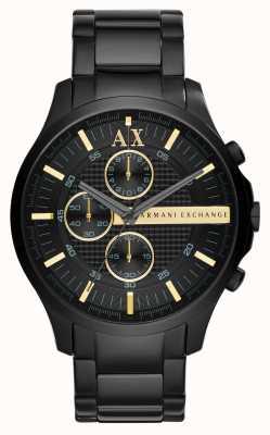 Armani Exchange 男士全黑计时码表 AX2164