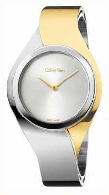 Calvin Klein 女性的感官|不锈钢手链|金/银| K5N2S1Y6