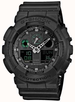 Casio G-shock隐形绿色黑色男士世界计时器 GA-100MB-1AER
