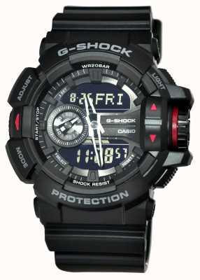 Casio 男士G-SHOCK黑色计时码表 GA-400-1BER
