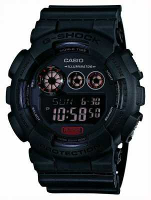 Casio 男士g-shock亚光黑色树脂表带 GD-120MB-1ER