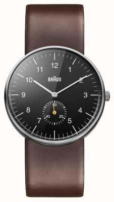 Braun 男士黑色棕色手表 BN0024BKBRG