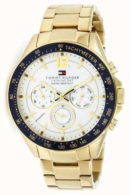 Tommy Hilfiger 男士卢克金色手表|金色金属表带| 1791121