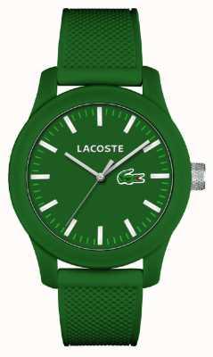 Lacoste 男士12.12绿色硅胶表带绿色表盘 2010763