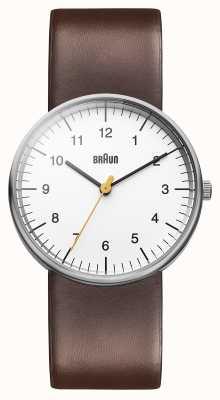 Braun 男士白色棕色手表 BN0021WHBRG