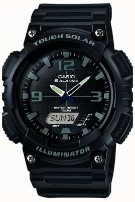 Casio 男士五警报太阳能照明器黑色 AQ-S810W-1A2VEF