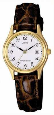 Lorus 棕色皮革表带 RXT94AX9