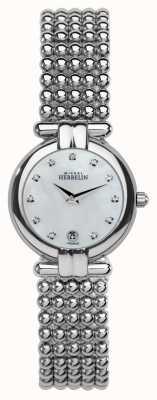 Michel Herbelin 女士钢质水晶,珍珠表盘 16873/B59