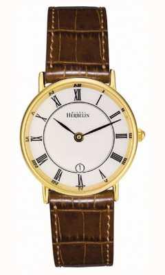 Michel Herbelin 女士镀金经典皮革表带 16845/P08GO