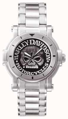 Harley Davidson 男士威利克骷髅手表 76A11