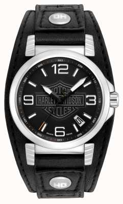Harley Davidson 男士不锈钢日期手表 76B163