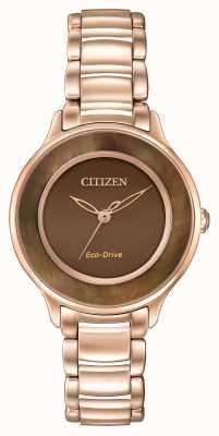 Citizen 生态驱动l圈时间玫瑰金 EM0382-86X