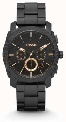 Fossil 男装机黑色pvd镀 FS4682