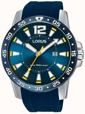Lorus 男士蓝色橡胶表带蓝色表盘 RH935FX9