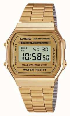 Casio 中性镀金复古数字收藏 A168WG-9EF
