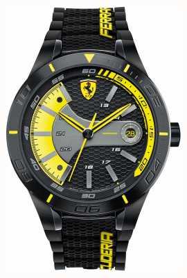 Scuderia Ferrari 红色旋转evo黑色硅胶黑色黄色表盘 0830266