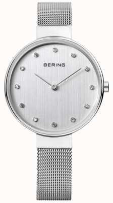 Bering 女式不锈钢网面银色表盘 12034-000