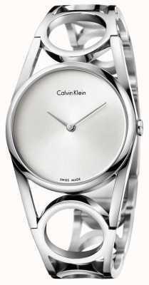 Calvin Klein 女式圆形不锈钢银色表盘 K5U2S146