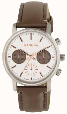 Kahuna 女装棕色表带白色表盘 KLS-0318L