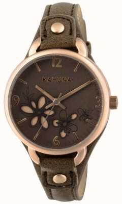 Kahuna 女式灰褐色表带棕色表盘 KLS-0310L