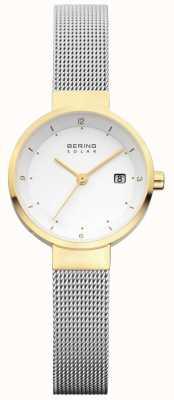 Bering 女式不锈钢网状白色表盘 14426-010